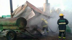 Bomberos de Basavilbaso sofocaron un principio de incendio