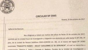 Los escribanos, obligados a aportar documentación sobre Urribarri