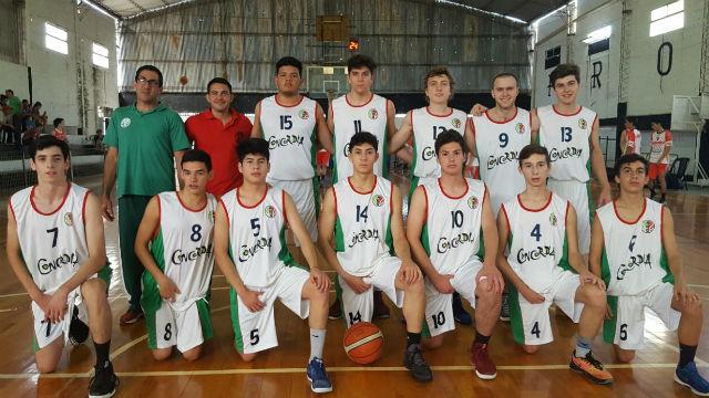 La selección de Concordia, subcampeona U17.