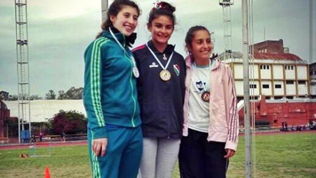Mariangeles Manno, con la medalla de oro