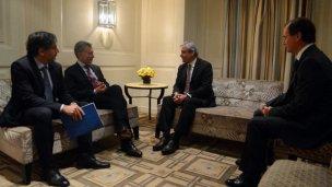 Macri y Bordet, a solas con el presidente de Coca Cola