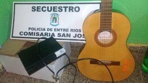 Recuperaron una guitarra y un decodificador