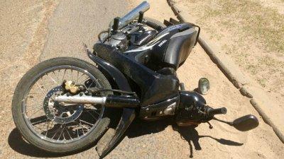 Motociclista lesionada tras un choque