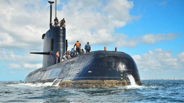 Detectan nueva señal durante búsqueda de submarino argentino