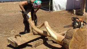 Reconocimiento y obsequios a escultores