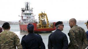 Partió el minisubmarino en búsqueda del ARA San Juan