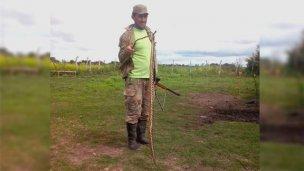 Hallaron otra víbora de gran tamaño en el norte entrerriano