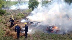 Un accidente y dos principios de incendio
