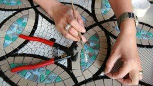 La técnica del mosaico, en el museo de San José
