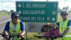 Tras llegar a Lujan, los ciclistas entrerrianos tienen nuevo destino
