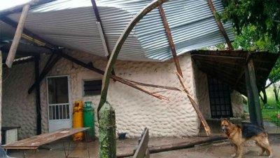 El temporal causó destrozos en una localidad entrerriana