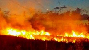 Grave incendio puso en vilo a vecinos de Concordia