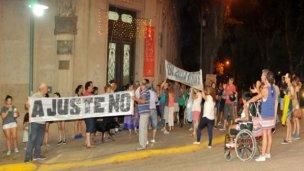 En Colón se movilizaron contra la reforma