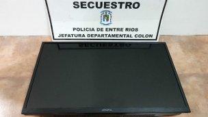 Recuperaron un televisor robado de un complejo
