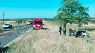 Fallecieron 3 personas tras un choque frontal en Ruta 12