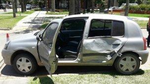 Automovilista lesionado en un accidente