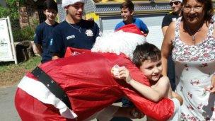 Papá Noel por los barrios de Colón