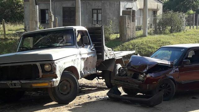 Los ocupantes de la camioneta salieron ilesos.
