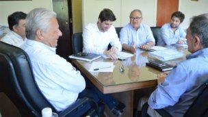 Gabás y Lauritto en un primer encuentro con agenda completa