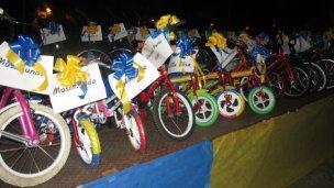 Los Reyes Magos entregaron 33 bicicletas