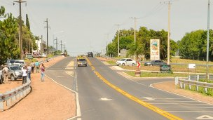 Supervisan obras de seguridad vial en la rotonda de acceso a Liebig