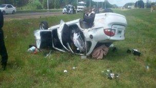 Autovía 14: iban a su luna de miel y tuvieron un accidente