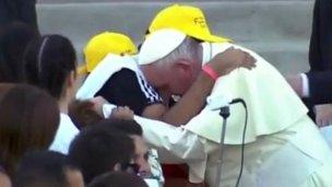 """""""Qué más le puedo pedir a Dios"""" dijo el entrerriano que abrazó a Francisco"""