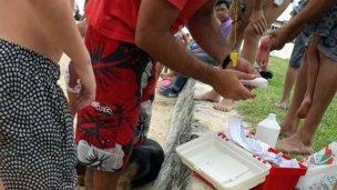 Varias personas fueron atacadas por palometas en playa entrerriana