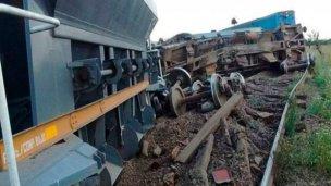 Un tren cargado de piedras descarriló en Entre Ríos