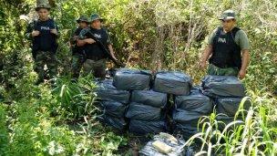 Nuevo golpe a los narcos en Itatí: 471 kilos de marihuana
