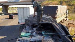 Impactante operativo custodió hasta Concordia 3000 kilos de droga