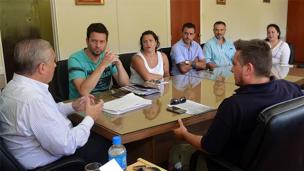 Lauritto manifestó su apoyo a los trabajadores de LT 11