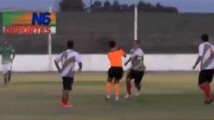Futbolista entrerriano, preso por agredir al árbitro