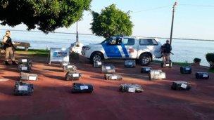 Más de 12 millones de pesos en marihuana, en la costa del Paraná