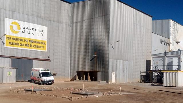 Vista exterior de la planta de carbonato de litio de Sales de Jujuy