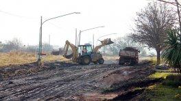 Obras públicas en distintos sectores de Villa Elisa
