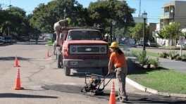Trabajos de Obras Públicas en Villa Elisa